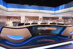 Soccer Saturday set at the Sky Sports TV studio for the transfer Deadline Day show..© Michael Schofield...