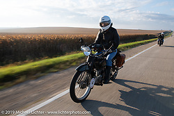 Chris O'Brien riding his 1917 Henderson in the Motorcycle Cannonball coast to coast vintage run. Stage 7 (274 miles) from Cedar Rapids to Spirit Lake, IA. Friday September 14, 2018. Photography ©2018 Michael Lichter.