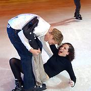 Premiere Holiday on Ice 2004, Aukje van Ginneken en vriend Jamie Westland
