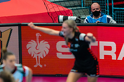 Media Andre in action during the Women's EHF Euro 2020 match between Netherlands and Hungry at Sydbank Arena on december 08, 2020 in Kolding, Denmark (Photo by RHF Agency/Ronald Hoogendoorn)