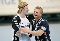 --------------------------------------------------------------------------------<br /> Håndball , 8. oktober 2008 , Champions League , Drammen HK - Kiel Handball Børge Lund , Börge Lund , Kiel og trener for DHK , Bent Dahl