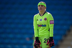 CHESTERFIELD, ENGLAND - Sunday, April 25, 2021: Sheffield United's goalkeeper Fran Kitching during the FA Women's Championship game between Sheffield United FC Women and Liverpool FC Women at the Technique Stadium. Liverpool won 1-0. (Pic by David Rawcliffe/Propaganda)
