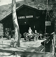 1928 Guest dining at Laurel Tavern in Laurel Canyon