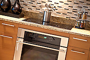 Electric Stove Cooktop and Oven Stock Photo