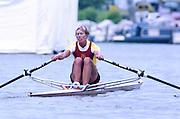 Henley Royal Regatta, Henley on Thames, ENGLAND, 1995, CAN W1X Silken Laumann, © Peter Spurrier/Intersport Images Tel +44 [0] 7973 819 551 / email images @intersport-images. com[Mandatory Credit Peter Spurrier/ Intersport Images] . HRR.