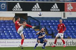 Ryan Wintle of Crewe Alexandra gets to the ball first - Mandatory by-line: Arron Gent/JMP - 31/10/2020 - FOOTBALL - Portman Road - Ipswich, England - Ipswich Town v Crewe Alexandra - Sky Bet League One