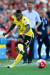 Leandro Bacuna of Aston Villa passes - Mandatory by-line: Jason Brown/JMP - Mobile 07966 386802 08/08/2015 - FOOTBALL - Bournemouth, Vitality Stadium - AFC Bournemouth v Aston Villa - Barclays Premier League - Season opener