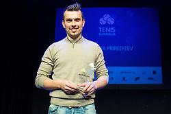 Ales Macek at Slovenian Tennis personality of the year 2016 annual awards presented by Slovene Tennis Association Tenis Slovenija, on December 7, 2016 in Siti Teater, Ljubljana, Slovenia. Photo by Vid Ponikvar / Sportida