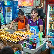 NLD/Bangkok/20180713 - Vakantie Thailand 2018, openbaar eten verkoop