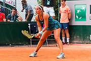 Deborah Chiesa (ita) during the Roland Garros French Tennis Open 2018, day 2, on May 28, 2018, at the Roland Garros Stadium in Paris, France - Photo Pierre Charlier / ProSportsImages / DPPI