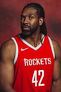 Houston, TX - September 25, 2017:  Houston Rockets' Nene Hilario pose during the Rockets' 2017 Media Day.<br /> <br /> credit:  Michael Starghill for ESPN