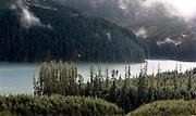 Looking across Swift Creek Reservoir near the base of Mount St. Helens. (Steve Ringman / The Seattle Times)