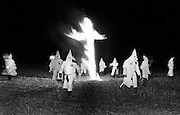 Cross Burning at Ku Klux Klan Rally - Macon, Georgia - 1975.