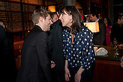 CHRISTOPHER BAILEY; SAMANTHA CAMERON;, BFC/Vogue Designer Fashion Fund winner Christopher Kane announcement. Almada, 33 Dover Street, London,2 February 2011 -DO NOT ARCHIVE-© Copyright Photograph by Dafydd Jones. 248 Clapham Rd. London SW9 0PZ. Tel 0207 820 0771. www.dafjones.com.