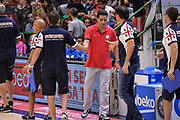 DESCRIZIONE : Trofeo Meridiana Dinamo Banco di Sardegna Sassari - Olimpiacos Piraeus Pireo<br /> GIOCATORE : Giannis Sfairopoulos Paolo Citrini<br /> CATEGORIA : Fair Play Allenatore Coach Postgame<br /> SQUADRA : Olimpiacos Piraeus Pireo<br /> EVENTO : Trofeo Meridiana <br /> GARA : Dinamo Banco di Sardegna Sassari - Olimpiacos Piraeus Pireo Trofeo Meridiana<br /> DATA : 16/09/2015<br /> SPORT : Pallacanestro <br /> AUTORE : Agenzia Ciamillo-Castoria/L.Canu
