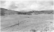 """A distant RGS freight train at high point on Lizard Head Pass: 10,240 ft.  This is likely leased D&RGW #464, based on other Richardson photos.<br /> RGS  Lizard Head Pass, CO  Taken by Richardson, Robert W. - 9/16/1948<br /> In book """"Rio Grande Southern, The: An Ultimate Pictorial Study"""" page 142"""