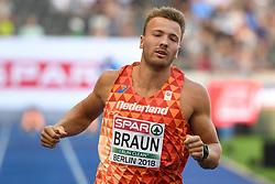 07-08-2018 ATLETIEK: EUROPESE KAMPIOENSCHAPPEN: BERLIJN<br />Pieter Braun op de 100 meter in de tienkamp.<br /><br />Foto: SCS/Erik van Leeuwen