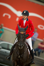 Peeters Leonie, (BEL), Catho<br /> Class 16 Nations Cup YR<br /> International Competition CSIO Young Riders Opglabbeek 2016<br /> © Dirk Caremans