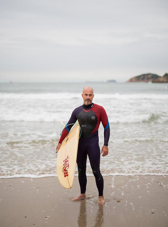 Antony Dikson - Surfing in Big Wave Bay, hong Kong. thursday 10th, 2016
