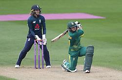 South Africa's Dane van Niekerk batting during the ICC Women's Championship match at Blackfinch New Road, Worcester.