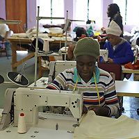 Africa, Namibia, Windhoek. At Penduka development cooperation organization, underpriveleged or disabled women are trained in skills and given the opportunity to work and make a living.