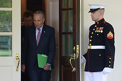 April 30, 2019 - Washington DC, USA - Senate Majority Leader Chuck Schumer along with other Democrats comes to the stake out outside of The West Wing following their meeting on infrastructure with President Trump  (Credit Image: © Christy Bowe/ZUMA Wire)
