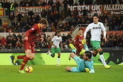 December 26, 2018 - Rome, Italy - Nicolo Zaniolo of AS Roma in action during the Italian Serie A football match between A.S. Roma and Sassuolo at the Olympic Stadium in Rome, on december 26, 2018. (Credit Image: © Federica Roselli/NurPhoto via ZUMA Press)