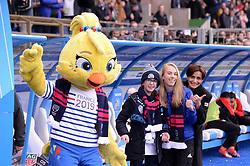 March 9, 2019 - Strasbourg, France - ILLUSTRATION - Ettie mascotte officielle de la coupe du monde 2019 - JOURNEE DE LA FEMME - COUP D ENVOI FICTIF (Credit Image: © Panoramic via ZUMA Press)