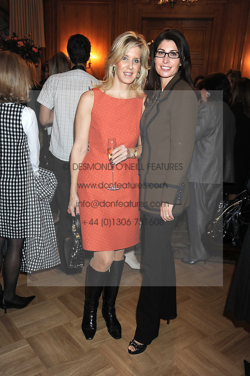 Left to right, DONNA DIDIZIAN and NATHALIE REBEIZ at a fashion show and lunch in aid of  AMAR International Charitable Foundation held at The Dorchester, Park Lane, London W1 on 9th October 2008.