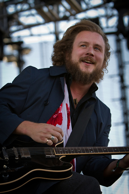 Vocalist/guitarist JIM JAMES of My Morning Jacket performs at the Mile High Music Festival.