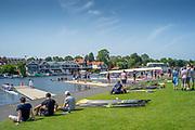 Henley on Thames, England, United Kingdom, 28th June 2019, Henley Royal Regatta Qualifiers, time trial, on Henley Reach, [© Peter SPURRIER/Intersport Image]<br /> <br /> 14:17:53