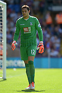Goalkeeper Alex McCarthy of Crystal Palace looking on. Barclays Premier league match, Crystal Palace v Aston Villa at Selhurst Park in London on Saturday 22nd August 2015.<br /> pic by John Patrick Fletcher, Andrew Orchard sports photography.