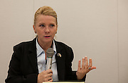 """Rape Survivor and activist, Catherine """"Jane"""" Fisher at a press conference to publicise her book  in the First Office Building of the Members of the House of Representatives, Nagatacho, Tokyo, Japan, Friday July 18th 2014. Ms Fisher was raped near Yokosuka US Naval Base in Kanagawa in 2002 and has been campaign for the rights of rape victims in Japan since after finding the US Military and Japanese police obstructive and uninterested in bringing her attacker to justice."""