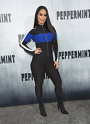 August 28, 2018 - Hollywood, California, U.S. - Victoria Ortiz arrives for the premiere of the film 'Peppermint' at the Regal Cinemas LA Live theater. (Credit Image: © Lisa O'Connor/ZUMA Wire)