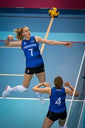 Demi Korevaar of Team22 in action during the league match Draisma Dynamo vs. Team22 on october 10, 2021 in Omnisport Apeldoorn, Apeldoorn