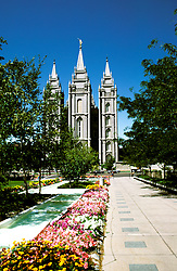 Utah: Salt Lake City, Mormon Temple, photo: utsalt102  .Photo copyright Lee Foster, www.fostertravel.com, 510/549-2202, lee@fostertravel.com