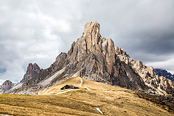 Mount La Gusela Colle, high in Italy's Dolomite Mountains near Cortina Italy.