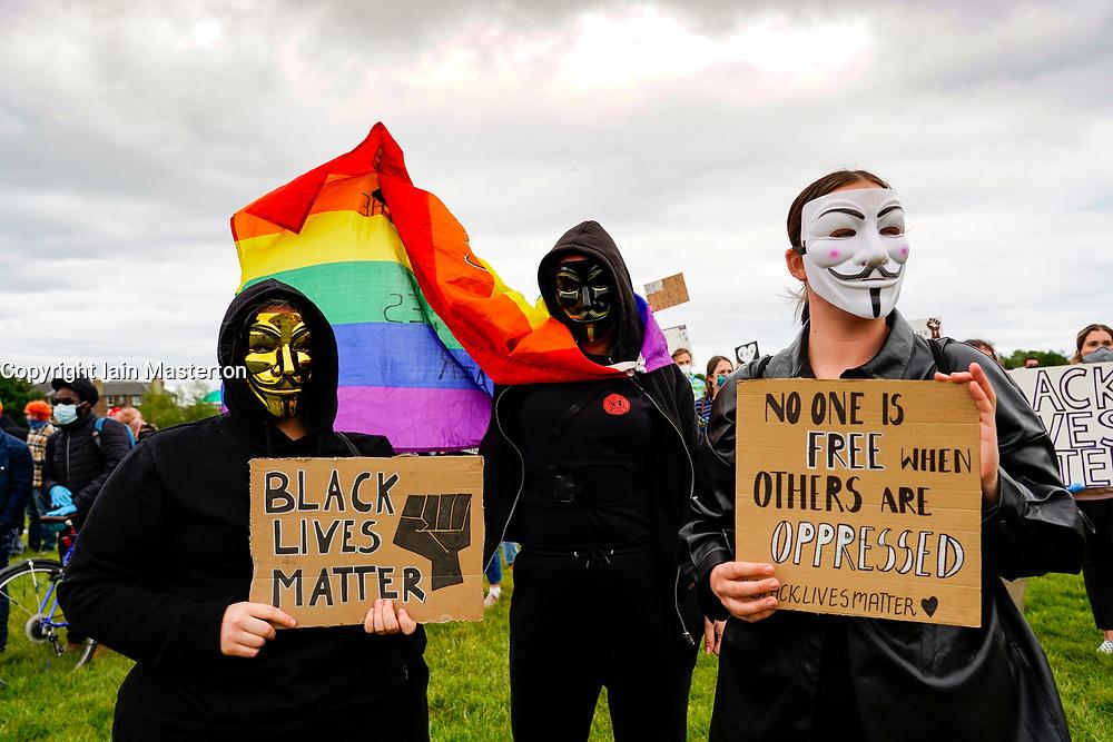 Edinburgh, Scotland, UK. 7 June 2020.  Black Lives Matter protest demonstration at Holyrood Park in Edinburgh. Iain Masterton/Alamy Live News