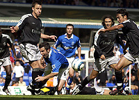 Fotball<br /> Foto: SBI/Digitalsport<br /> NORWAY ONLY<br /> <br /> Date: 21/08/2004.<br /> Birmingham City v Chelsea FA Barclays Premiership.<br /> <br /> Muzzy Izzet of City goes down in the area, but no penalty is given.