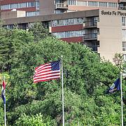 Flags near Crown Center, Kansas City
