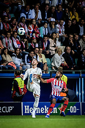 August 15, 2018 - Tallinn, Estonia - Sergio Ramos of FC Real Madrid in action at UEFA Super Cup 2018 in Tallinn..The UEFA Super Cup 2018 was played between Real Madrid and Atletico Madrid. Atletico Madrid won the match 4-2 during extra time after and took the trophy after drawing at 2-2 during the first 90 minute of game play. (Credit Image: © Hendrik Osula/SOPA Images via ZUMA Wire)