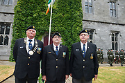 08/07/2018  repro  free: Ex-servicemen  Jim Larkin,  Pat Nugent and Pete Farragher of ONE  at  The National Day of Commemoration Ceremony at NUI Galway in honour of all those Irishmen and Irish Women who served in past wars or on Service with the UN.Photo:Andrew Downes, XPOSURE