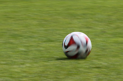 28.07.2014, Walchsee, AUT, 1. FBL, FC Augsburg Trainingslager, im Bild rollender Ball, Fussball, Symbolbild, Symbol, symbolisch Erzeugt mit der Demo Version des Caption Writers II. // during the Preparation Camp of the German Bundesliga Club FC Augsburg at the Walchsee, Austria on 2014/07/28. EXPA Pictures © 2014, PhotoCredit: EXPA/ Eibner-Pressefoto/ Krieger<br /> <br /> *****ATTENTION - OUT of GER*****