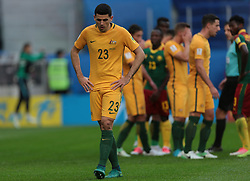 June 22, 2017 - Saint Petersburg, Russia - Tommy Rogic of the Australia national football team reacts during the 2017 FIFA Confederations Cup match, first stage - Group B between Cameroon and Australia at Saint Petersburg Stadium on June 22, 2017 in St. Petersburg, Russia. (Credit Image: © Igor Russak/NurPhoto via ZUMA Press)