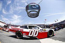 April 13, 2018 - Bristol, Tennessee, United States of America - April 13, 2018 - Bristol, Tennessee, USA: Cole Custer (00) drives his car under Colossus TV during opening practice for the Fitzgerald Glider Kits 300 at Bristol Motor Speedway in Bristol, Tennessee. (Credit Image: © Chris Owens Asp Inc/ASP via ZUMA Wire)