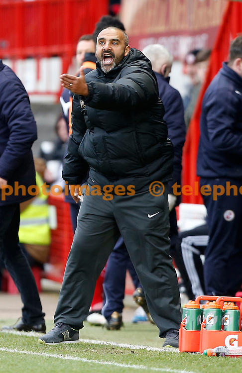 Leyton Orient's manager Fabio Liverani gestures to his players during the Sky Bet division one match between Crawley Town and Leyton Orient at the Checkatrade.com Stadium in Crawley. March 21 2015<br /> James Boardman / TELEPHOTO IMAGES