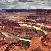 The awe-inspiring view of the Colorado River from the main overlook at Dead Horse Point State Park near Moab, Utah