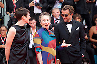 Laurie Anderson, Francesco Carrozzini, and Alysha Naples at the Opening Ceremony and gala screening of the film The Truth (La Vérité) at the 76th Venice Film Festival, Sala Grande on Wednesday 28th August 2019, Venice Lido, Italy.