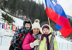 Supporters during 2nd Run of Men Slalom race of FIS Alpine Ski World Cup 54th Vitranc Cup 2015, on March 15, 2015 in Kranjska Gora, Slovenia. Photo by Vid Ponikvar / Sportida