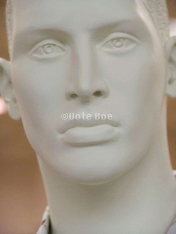 extreme close up of a classic face of a mannequin